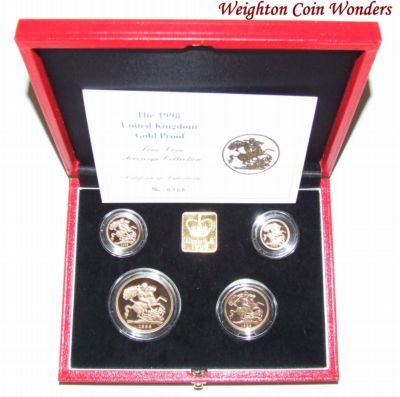 Gold Proof 4 Coin Sets